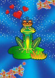 Frog Love Stock Image