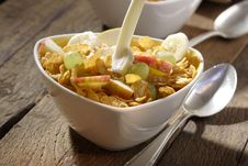 Free Corn Flakes With Fruits Stock Images - 3253714