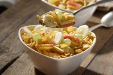 Free Corn Flakes With Fruits Stock Image - 3253761