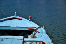 Blue Boat Detail Royalty Free Stock Image