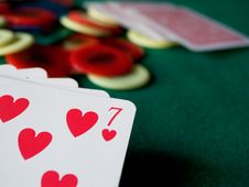 Cards And Chips Royalty Free Stock Images
