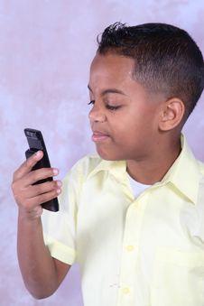 Free Boy With Phone Stock Photo - 3255020