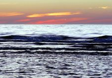 Free Waves At Sunrise Stock Photography - 3255412