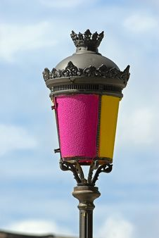 Free Painted Street Lamp Stock Images - 3256034