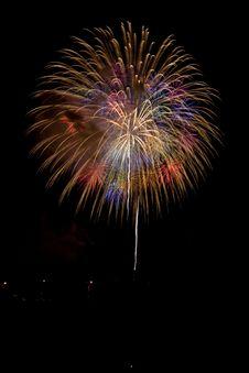 Free Colorful Celebration Fireworks Royalty Free Stock Photo - 3256045
