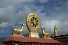 Jokhang Temple Royalty Free Stock Photo