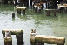 Old Wooden Quay Royalty Free Stock Image