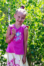 Free Сute Little Girl Holding A Candy Royalty Free Stock Photography - 32500937