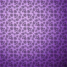 Free Antique Pattern Background. Purple Seamless Royalty Free Stock Image - 32500156
