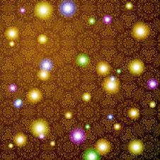 Free Brown Pattern Background With Colorful Lights Stock Photo - 32500180