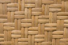 Handcraft Of Bamboo Weave Pattern Stock Images