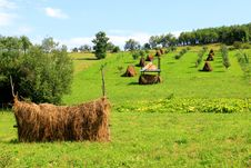 Haystack-agriculture Royalty Free Stock Photo