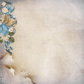 Free Vintage Background With  Turquoise Flowers Royalty Free Stock Photos - 32510248