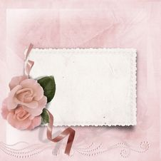 Free Vintage Elegance Background With Card And Rose Stock Images - 32510254