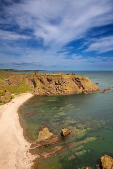Dunnottar Castle, Aberdeenshire, Scotland Royalty Free Stock Photography
