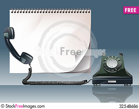Free Old Phone Royalty Free Stock Image - 32548686