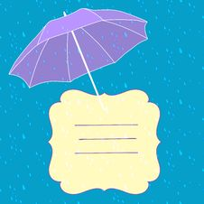 Free Vector Background With Umbrella Stock Photo - 32545680