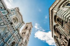 Florence Cathedral And Baptistery Stock Images