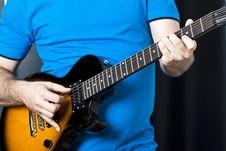 Free Man Playing Guitar Royalty Free Stock Photo - 32546985