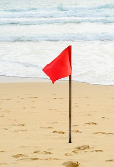 Free Red Warning Flag Stock Photo - 32547080