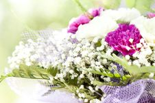 Free Close Up On Colorful Wedding Bouquet Royalty Free Stock Photo - 32547195