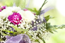 Free Close Up On Colorful Wedding Bouquet Stock Image - 32547201