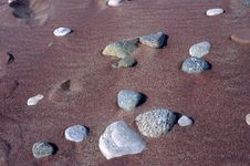 Free Stones On Sand Royalty Free Stock Photo - 32547225
