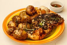 Chicken With Potatoes Stock Image