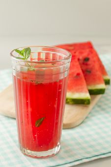 Glass Of Watermelon Juice Royalty Free Stock Image