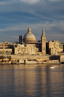 Valletta Skyline Royalty Free Stock Images