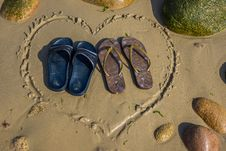 Free Heart Shape Footwear Stock Photography - 32549922