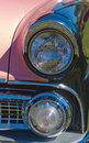 Free Vintage Pink American Car Headlights Royalty Free Stock Images - 32553199