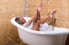 Free In The Bath Royalty Free Stock Photos - 32556288
