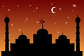 Free Mosque - Mosque Orange Gradation Sky Stock Images - 32564654