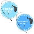 Free Emblem For Fishing Royalty Free Stock Image - 32566456