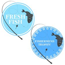 Free Emblem For Fishing Royalty Free Stock Image - 32566456