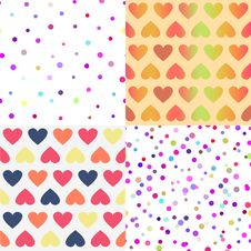 Free Bright Vector Seamless Patterns Set Royalty Free Stock Image - 32566526