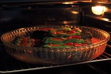 Free Stuffed Eggplant In Oven Royalty Free Stock Photography - 32569197