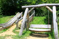 Free Wooden Swing And Slide For Children Royalty Free Stock Images - 32573769