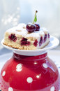Free Cherry Pie&x27;s Bars On Red Polka Dot Cup Stock Image - 32574701