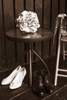 Free Wedding Black And White Still Life Royalty Free Stock Photography - 32572067