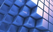Free Blue Cubes Royalty Free Stock Photo - 32578215