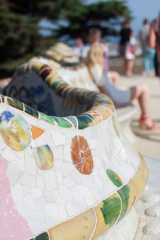 Symbols Of Gaudi Parc Royalty Free Stock Photography
