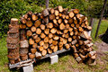 Free Stacked Fire Wood Stock Photo - 32597150