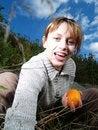 Free Girl With Orange Stock Photo - 3260240