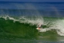 Free Surfer In The Barrel Stock Photography - 3260452