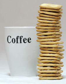 Free Coffee And Biscuits. Stock Photos - 3261013