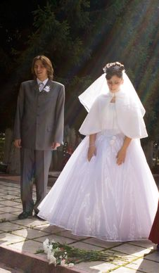 Free Bridegroom With Bride Stock Image - 3261141