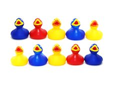 Free Many Toy Rubber Ducks Royalty Free Stock Photo - 3261295