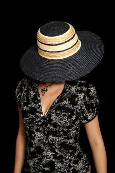 Free The Young Girl In A Straw Hat Royalty Free Stock Images - 3262429
